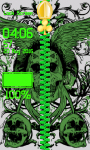 Skulls Zipper Lock Screen Free screenshot 6/6