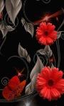 Red Butterfly Flower LWP screenshot 2/3