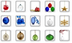 Christmas Ornament Onet Classic Game screenshot 1/2