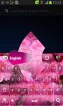 Pink Flowers Keyboard screenshot 2/6