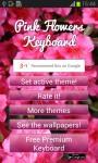 Pink Flowers Keyboard screenshot 5/6