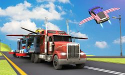 Car Transporter Flying Game 3D screenshot 2/4