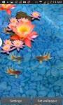 3D Goldfish Pond Wallpaper screenshot 1/4