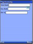 psychrometry screenshot 1/1