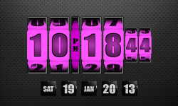 3D Rolling Clock widgets PINK screenshot 1/1