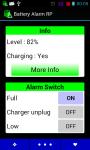 Battery Alarm RP screenshot 1/3