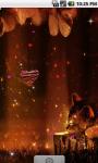 Cute Kitten Magic Night Live Wallpaper screenshot 1/4