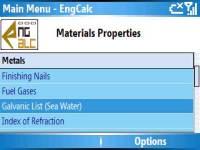EngCalc - Engineers Engineering Formula Calculator Software V1.01 screenshot 1/1