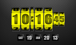 3D Rolling Clock Widgets YELLOW screenshot 1/1