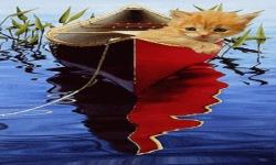 Cat In Boat Live Wallpaper screenshot 2/3