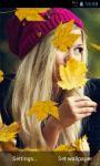 Autumn Girl Live Wallpapers screenshot 2/3