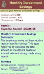 Monthly Investment Savings Calculator screenshot 3/3
