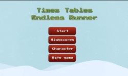 Times Tables Endless Runner Christmas Edition screenshot 1/3