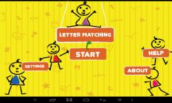 Letter Matching For Kids screenshot 1/6