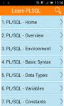 Learn PLSQL screenshot 1/3