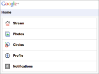 Google+ screenshot 1/6