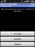 World Cricket Quiz by TuneSystems screenshot 1/3