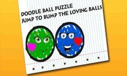 Doodle Ball Puzzle - Jump to Bump the Loving Balls screenshot 1/6