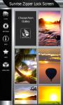 Sunrise Zipper Lock Screen Best screenshot 4/6