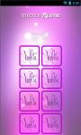 Violetta Memory Game screenshot 2/6