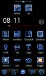 Neon Blue Theme screenshot 1/3