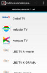 Indonesia and Malaysia Tv Live screenshot 1/5