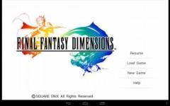 FINAL FANTASY DIMENSIONS personal screenshot 1/6