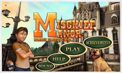 Free Hidden Objects Game - Mischief Manor screenshot 1/4