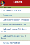 Rules to play Handball screenshot 2/3