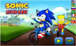 Sonic VS Simpson screenshot 1/5