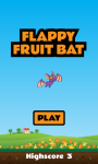 Flappy Fruit Bat Free screenshot 1/4