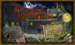Free Hidden Object Games Escape from Haunted Town screenshot 1/4