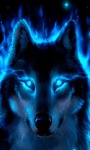 Neon Wolf LWP screenshot 2/3