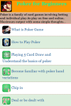 Poker Game for Beginners screenshot 3/4