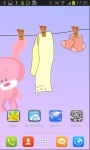 Cute Pinky Bunny Live Wallpaper screenshot 3/3