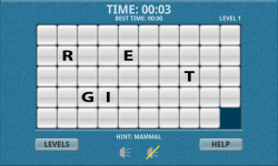 Endangered Species Word Slide Puzzle Free screenshot 2/3