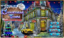 Free Hidden Object Game - Christmas Town screenshot 1/4