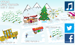 SnowBall Fight Winter Game HD screenshot 1/4