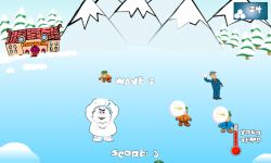 SnowBall Fight Winter Game HD screenshot 2/4