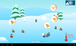 SnowBall Fight Winter Game HD screenshot 3/4