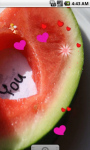 Love in Watermelon LWP screenshot 3/4