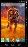 Amazing Tiger On Fire Live Wallpaper screenshot 1/2