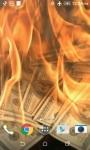 Burning Money Live Wallpaper screenshot 1/4