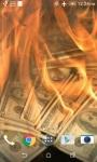 Burning Money Live Wallpaper screenshot 2/4