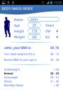 Health Calculator - BMI and WTH screenshot 2/3
