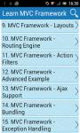 Learn MVC Framework screenshot 1/3