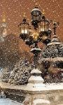Lamp In Snow Live Wallpaper screenshot 1/3