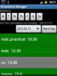 Attendance Manager screenshot 2/6