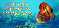 3D Living Aquarium Screensaver  screenshot 1/4