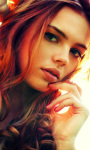 Pretty Redhead Girl Live Wallpaper screenshot 1/3